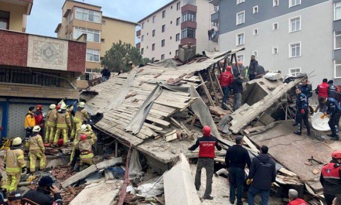 Kartal'da çöken binanın yanındaki bina da riskli