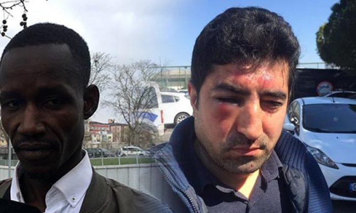 Senegalli yolcuya saldıran taksici gözaltına alındı